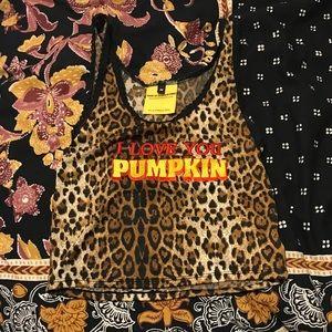 O-Mighty I Love You Pumpkin tank top